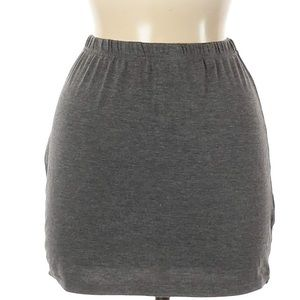 Boohoo Boutique | heathered gray mini skirt